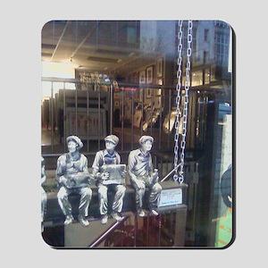Men Hanging on the Street Mousepad