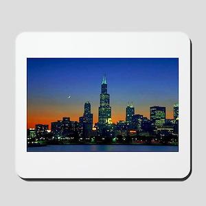 Chicago Framed In Sunset Mousepad