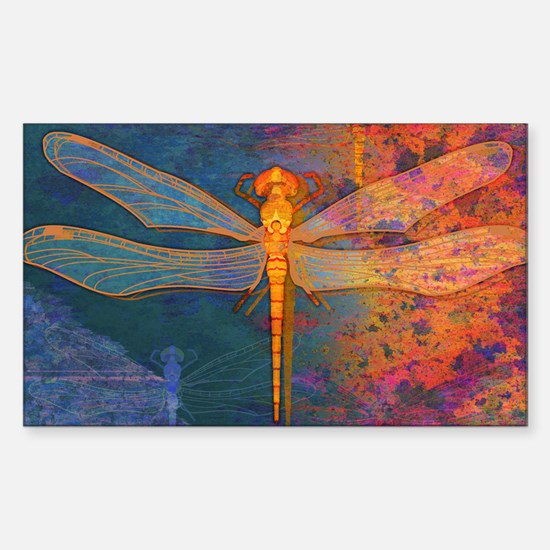 toiletryFlamingDragonfly Sticker (Rectangle)