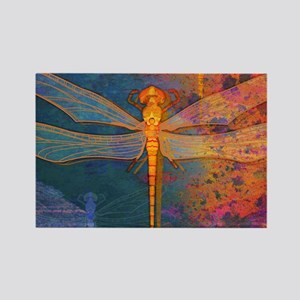 toiletryFlamingDragonfly Rectangle Magnet