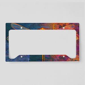 shoulderFlamingDragonfly License Plate Holder
