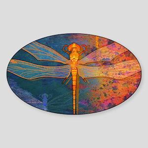 shoulderFlamingDragonfly Sticker (Oval)