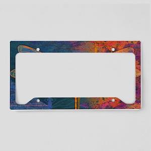 clutchFlamingDragonfly License Plate Holder