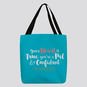 GG Heart Is True Polyester Tote Bag