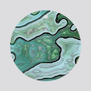 Mint Green Camouflage Round Ornament