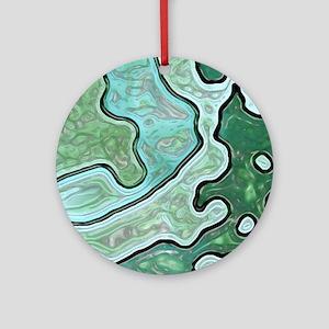Mint Green Camo Round Ornament