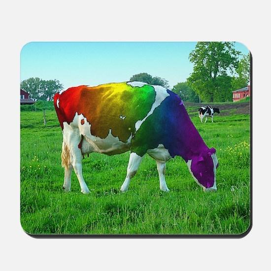 rainbow-cow_13-5x13-5 Mousepad