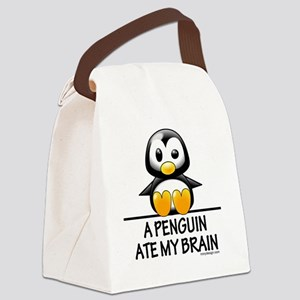 apenguinatemybrainCENTER2000 Canvas Lunch Bag