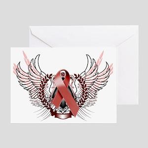 Awareness Tribal Burgundy copy Greeting Card
