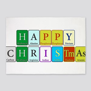 Happy Christmas 5'x7'Area Rug