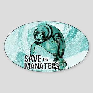 shoulderManateeSave Sticker (Oval)