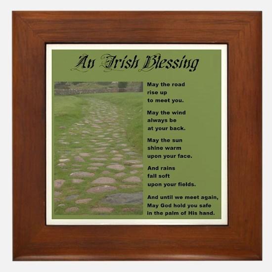 An Irish Blessing Framed Ceramic Tile