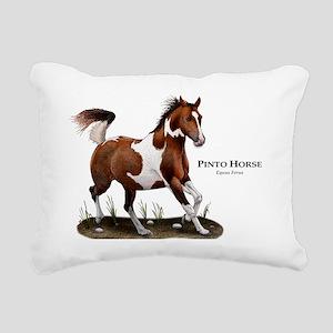 Pinto Horse Rectangular Canvas Pillow