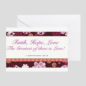 FAITH, LOVE, HOPE Greeting Card