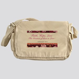 FAITH, LOVE, HOPE Messenger Bag