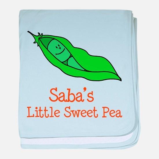 Saba's Sweet Pea baby blanket