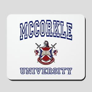 MCCORKLE University Mousepad