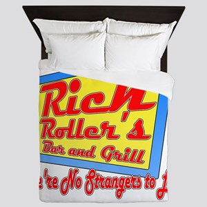 Rick Rollers Bar and Grill Queen Duvet
