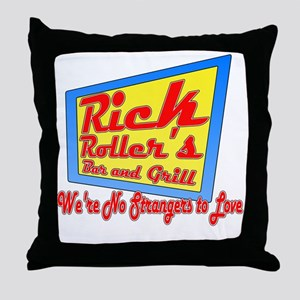 Rick Rollers Bar and Grill Throw Pillow