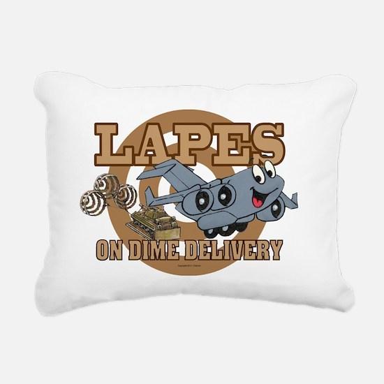 Mil 9A Lapes C17 Smile s Rectangular Canvas Pillow