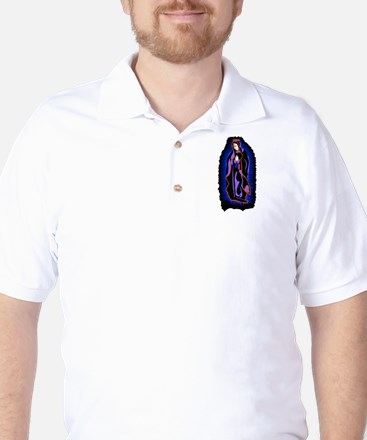 Contemporary Guadalupe - Navy Golf Shirt