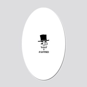 Antisec man 20x12 Oval Wall Decal