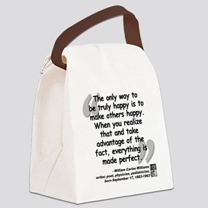 Williams Happy Quote Canvas Lunch Bag
