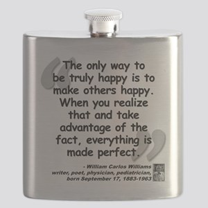 Williams Happy Quote Flask