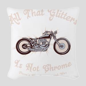glitters-chrome-DKT Woven Throw Pillow