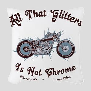 glitters-chrome-LTT Woven Throw Pillow