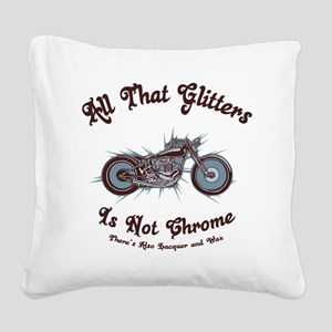 glitters-chrome-LTT Square Canvas Pillow