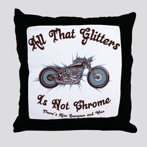glitters-chrome-LTT Throw Pillow