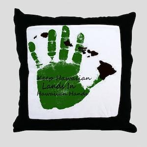 keep hawaiian lands in hands 1 Throw Pillow