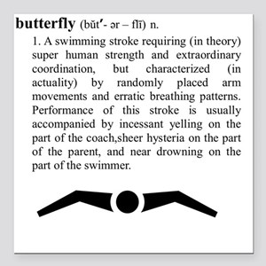 """butterfly_2 Square Car Magnet 3"""" x 3"""""""