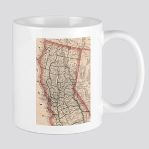 Vintage Map of Northern California (1883) Mugs