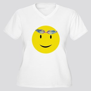 Smiley with Goggles Plus Size T-Shirt