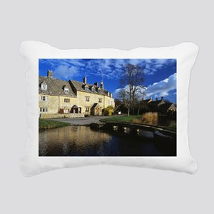 01 Lower Slaughter, the  Rectangular Canvas Pillow