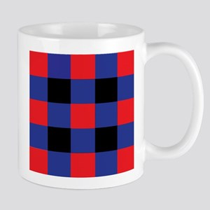 Black and Red and Blue Square Mugs