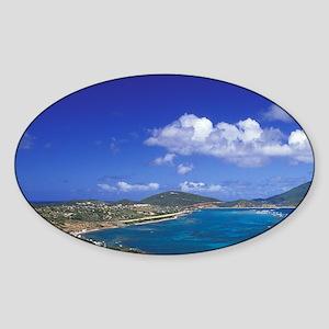 Virgin Gorda. View of Taylors Bay,  Sticker (Oval)
