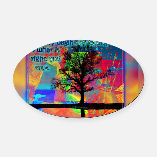 77_H_F_pstcrd_true Oval Car Magnet