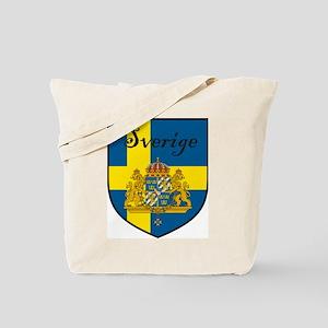 Sverige Flag Crest Shield Tote Bag