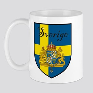 Sverige Flag Crest Shield Mug