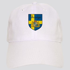 Sverige Flag Crest Shield Cap