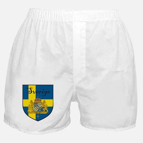 Sverige Flag Crest Shield Boxer Shorts