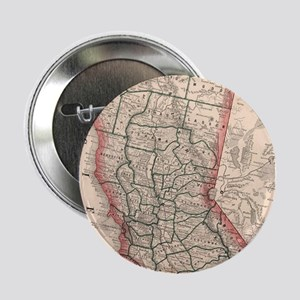 "Vintage Map of Northern California (1 2.25"" Button"