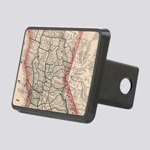 Vintage Map of Northern Ca Rectangular Hitch Cover