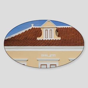 ABC Islands, ARUBA, Oranjestad: Num Sticker (Oval)