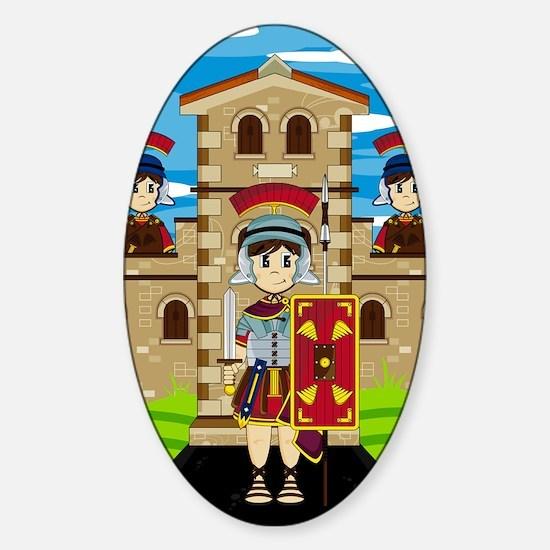 Roman Pad14 Sticker (Oval)
