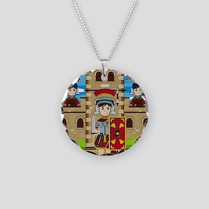 Roman Pad14 Necklace Circle Charm