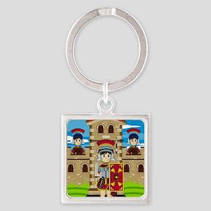 Roman Pad14 Square Keychain